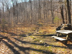 Rock Climbing Photo: Where to turn .... the main DEC hiking trail to th...