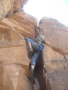 Rock Climbing Photo: Lori williams on pitch two.....