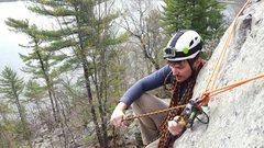 Rock Climbing Photo: Nice spot for a direct belay.