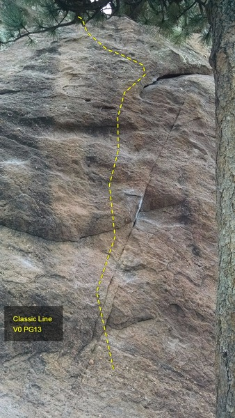 Rock Climbing Photo: Classic Line, V0 PG-13.