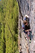 Rock Climbing Photo: The P4 crux.