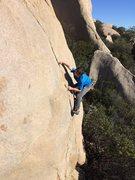 Rock Climbing Photo: High feet does the trick. Photo by Eden Anbar