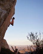 Rock Climbing Photo: Cruxin' at sunset. Photo by Eden Anbar