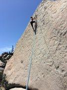 Rock Climbing Photo: Eden Anbar past the crux