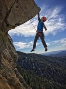 Rock Climbing Photo: Hanging out on the Traitor Horn. Photo by Jessica ...