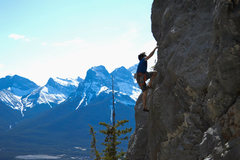 Rock Climbing Photo: Yours truly on the route, Photo by J. Dornian