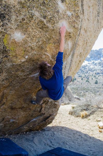 Rock Climbing Photo: Ian on Bubba Gump