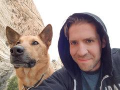 Rock Climbing Photo: A Man and his Dog. Heh.