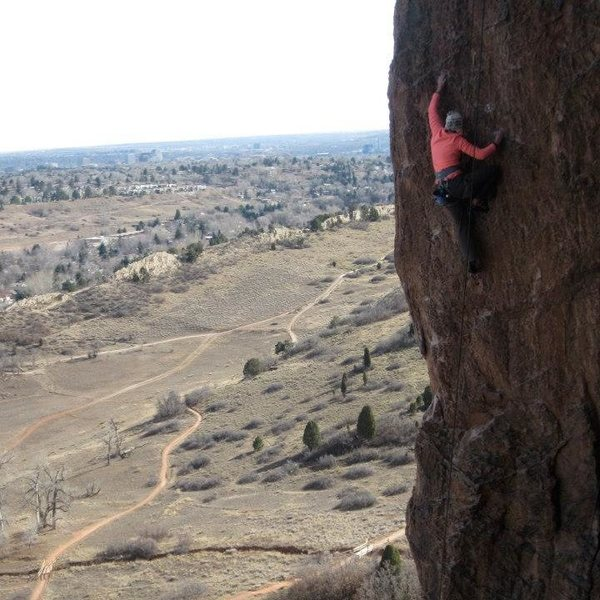 Laura crushing up high.