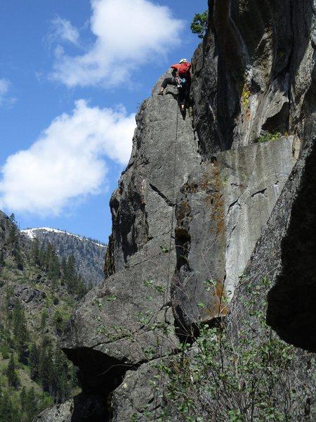 Matt Hartman climbing Catapult.