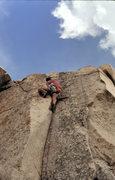 """Rock Climbing Photo: Marc Hill leading """"Hidden Technology"""" (5..."""