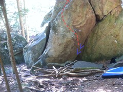 Rock Climbing Photo: I went and built up the landing of this. It's stil...