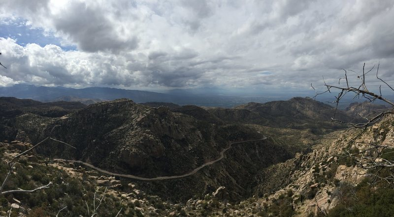 Rock Climbing Photo: April Showers as seen from Windy Point - 2106