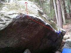 Rock Climbing Photo: Another angle of the problem.