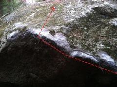 Rock Climbing Photo: A closeup of the topout