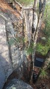 Rock Climbing Photo: Part of F&H, from the top of the prow proj