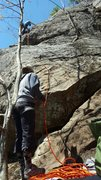 Rock Climbing Photo: about half way up the first pitch
