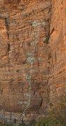 Rock Climbing Photo: Penguin Walk Topo