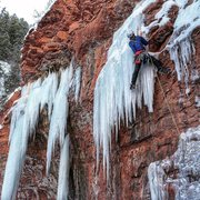 Rock Climbing Photo: Photo by Janette Hueng FA 1/2/16 M6  (No bolts) Tr...