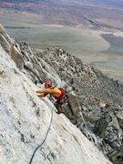 Rock Climbing Photo: TL nearing the belay atop P5.