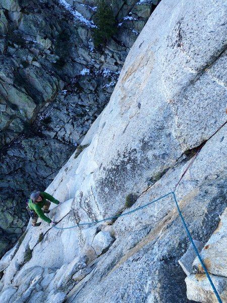 Rock Climbing Photo: Tony on P4.