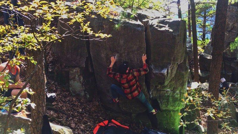 Rock Climbing Photo: Lumberjack V1-2
