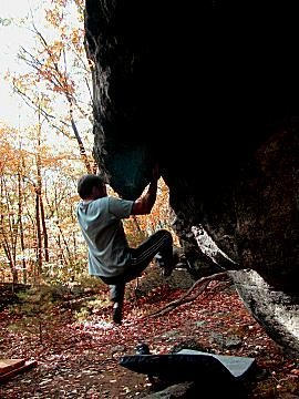 Rock Climbing Photo: I think this is a problem called Stinger.
