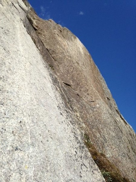 Rock Climbing Photo: Looking up p6. Great thin edging.