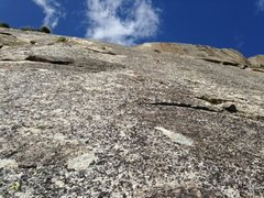 Rock Climbing Photo: Looking up p5. A little heady after the crack, but...