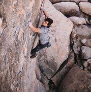 Rock Climbing Photo: Game face. Photo by Moe Lauchert