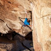 Rock Climbing Photo: Stemming it out on C&B. Photo by Frank Dolan