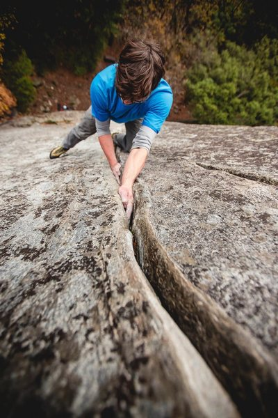 Rock Climbing Photo: Morning solo. Photo by Jason Hudson