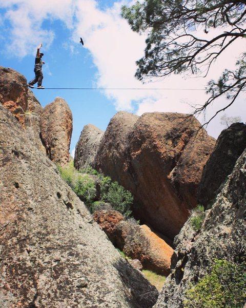 Highlining Pinnacles National Park