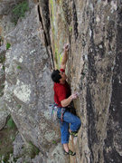 Rock Climbing Photo: Toby cruxin'.