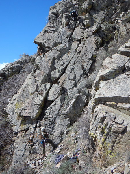 Rock Climbing Photo: John on the FA.