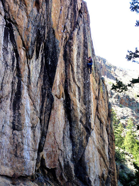 Ryan working the crux.