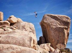 Rock Climbing Photo: The incredible Chasm Jump. Photo by Eden Anbar