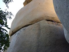 Rock Climbing Photo: Start in the corner on the right, traverse the hor...