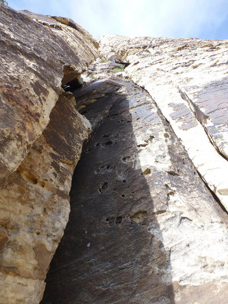 Rock Climbing Photo: This is the steep third class approach to the star...