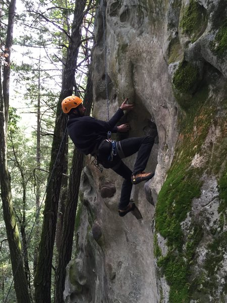 Rock Climbing Photo: The awkward undercling. Especially if you are