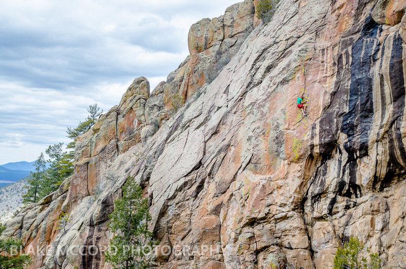 Rock Climbing Photo: Joel Unema working on the route.  Photo Blake McCo...