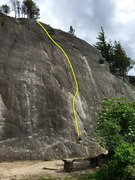 Rock Climbing Photo: Movin' on Over Topo