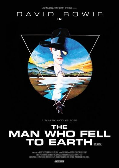 "Movie poster for ""The Man Who Fell to Earth"" (1976)."