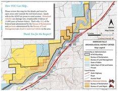 Rock Climbing Photo: BLM/BOR map showing the American Falls Archeologic...