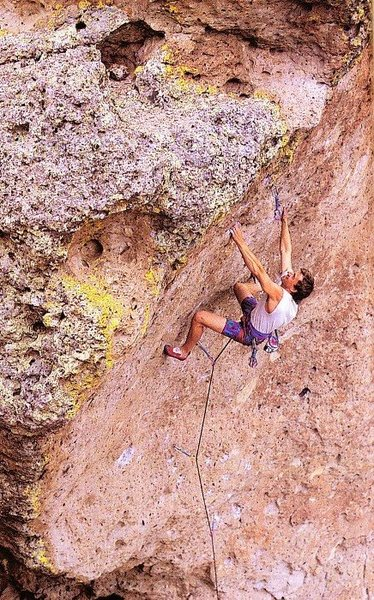 Doug Couleur on Technowitch (5.12a), Enchanted Tower<br> <br> Photo by Adam Read