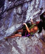 Rock Climbing Photo: Ben Moon on Hubble (8c+), Raven Tor  Photo by Chri...
