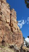 Rock Climbing Photo: Brandon near the top.