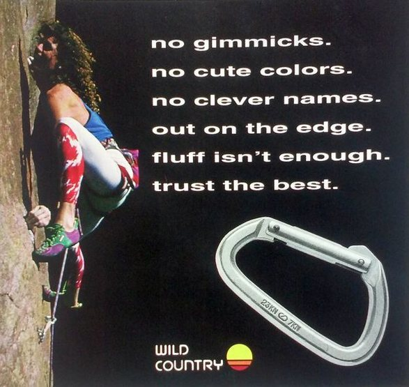 Wild Country ad featuring Brad Smith at Windy Point, Mt. Lemmon<br> <br> Photo by Peter Noebels