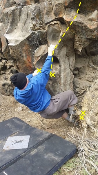 First move off the bottom Hueco.