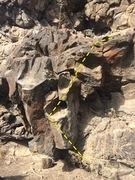 Rock Climbing Photo: Melissa – Huecos on right.